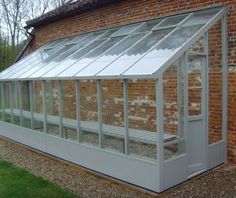 Swallow Dove Lean to wooden greenhouse 6x20