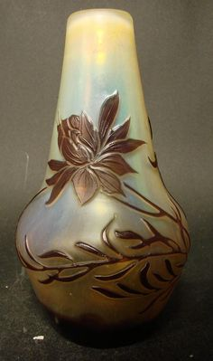 Muller Freres 4-color Cameo Art Glass Vase | Art Glass | Pinterest ... Satin Glas Innen Aussen
