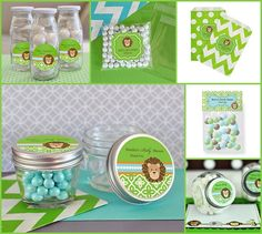 Jungle Baby Shower Favor Containers from HotRef.com