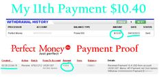 Adclickxpress (ACX) is Paying My 11 th Payment during 2015  $ 10.40 (Paid with in 24 hours)