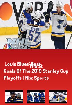 The St. Louis Blues' best goals of the 2019 Stanley Cup Playoffs Stanley Cup Playoffs, Stanley Cup Finals, Nhl Highlights, San Jose Sharks, Vancouver Canucks, Step Up, Sport Football, Boston Bruins, The St