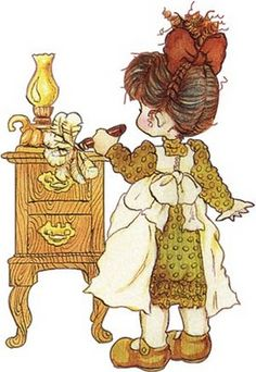 Sarah Kay Mommy's little helper Mary May, Vintage Drawing, Decoupage Vintage, Holly Hobbie, Australian Artists, Digi Stamps, Cute Little Girls, Cute Images, Cute Illustration