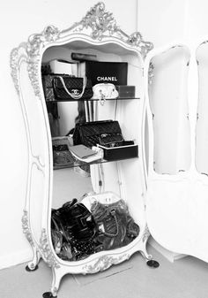 I would love to have an armoir to store all my Chanel bags.... once I get some!