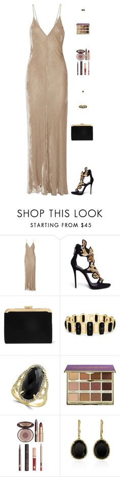 """Untitled #5047"" by mdmsb on Polyvore featuring Juan Carlos Obando, Giuseppe Zanotti, Balmain, Effy Jewelry, tarte and Charlotte Tilbury"