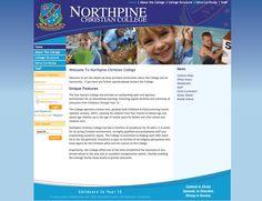 North Pine Christian College Web Site by Scorched Media - www. scorchedmedia.com.au Brisbane, Uniform Shop, Christian College, Portfolio Web Design, Pine, Community, Pine Tree