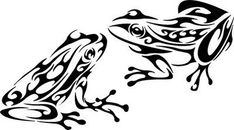 Tribal Frog Tattoos Frog Tattoos | Tropical Silhouettes ...