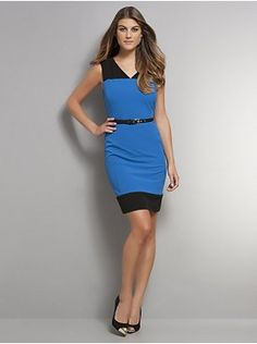 The 7th Avenue Colorblock Sheath Dress with Belt