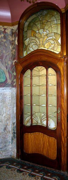 Art Nouveau - Hotel Hannon - Bruxelles - Jules Brunfaut  - Derrière cette Porte, la Salle 'Fumoir'