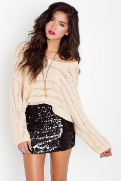 oversize sweater+ mini