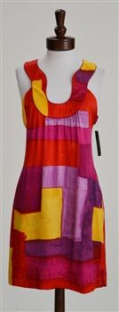 Laundry by Shelli Segal  Warm Color Block Dress