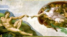 Michael Angelo's painting in Saint Peter's Church, Vatican, Italy