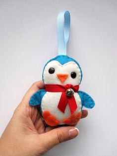 cute felt penguin