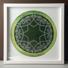 Birds & Foliage original hand-cut paper snowflake on watercolor by Paper Snowflake Art Framed Artwork, Framed Prints, Snowflakes Art, Paper Cutting, Cut Paper, Snowflake Pattern, Holiday Photos, Watercolor Background, Colorful Backgrounds