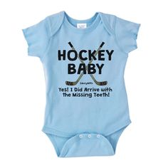 Hockey Baby Missing Teeth Infant Onesie