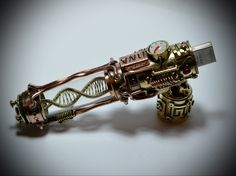"Steampunk flash drive . Motorized "" Molecule DNA ""  32/64|128gb USB 3.0 ,  steampunk stick Ver.3. by MagenKening on Etsy https://www.etsy.com/listing/225394517/steampunk-flash-drive-motorized-molecule"