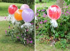 Lollipop Balloons—so clever!