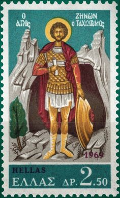 St Zeno the Postman Stamp Printing, Stamp Collecting, Postage Stamps, Vivid Colors, Religion, Flag, History, World, Collection