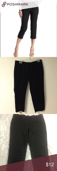 Ann Taylor Black Capris Cropped Pants Great for this summer cropped capris Ann Taylor. Made with 71% cotton, 23% polyester and 6% spandex, very comfortable and fresh! Ann Taylor Pants Capris
