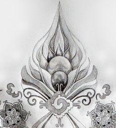 I love the hunab ku symbol and the patterns above represent rising up.