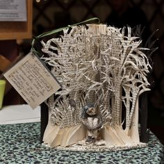 A mysterious artist is gifting paper sculptures to libraries, theaters, and literary spaces across the city of Edinburgh