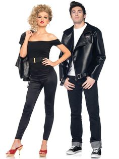 Here we provide you latest updates collection of Halloween Costumes for Couples with images. Halloween is also call as Hallowe'en, Allhallowe'en, All Hallows' Eve, All Saints' Eve. This day is celebrate in lots of countries on 31 October. Grease Couple Costumes, Sandy Grease Costume, Cute Couples Costumes, Funny Couples, Fancy Dress Ideas For Couples, Couples Cosplay, Happy Couples, Movie Couples, Famous Couples