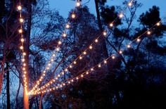 DIY Porch and Patio Ideas - DIY String Lights Canopy  - Decor Projects and…