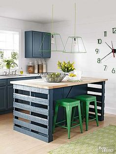 40 Awesome Kitchen Island Design Ideas with Modern Decor & Layout - Diy Kitchen Ideas 2019 Diy Kitchen Decor, Kitchen Furniture, Kitchen Storage, Kitchen Design, Kitchen Ideas, Cheap Furniture, Furniture Stores, Furniture Nyc, Furniture Removal