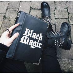 Black Magic Clutch Bag by Disturbia Teen Witch, Clutch Bag, Tote Bag, Lilac Sky, Victorian Goth, My Black Is Beautiful, Beautiful Bags, Shoe Clips, Creepy Cute