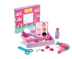 DJ6659 - Betty And Bella Hairstyling Set by Djeco. Distributed by Kaleidoscope.