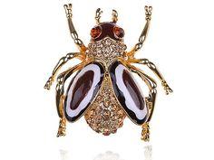 Брошь с эмалью ~ 469 руб. Муха, насекомон, пчела, бижутерия.    http://ali.pub/16sljo