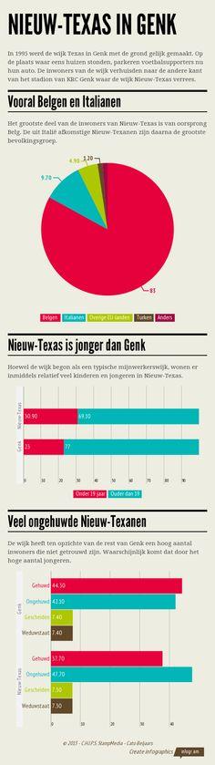 GENK – De wijk Texas werd voornamelijk bevolkt door mijnwerkers en hun families. Na de gedwongen verhuis in 1995 werd Nieuw-Texas opgebouwd. Wie woont daar nu? Waar komen de mensen vandaan? En hoe verhouden de bewoners zich ten opzichte van de rest van Genk? Een infografiek.