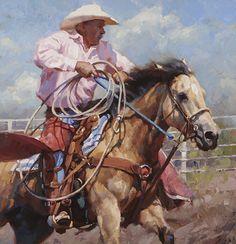 """""""Pickup Man"""" by Cowboy Artist Jason Rich"""