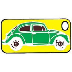 Green VW Bug Custom iPhone Case Fits 4 And 4s Black Or by hhprint, $18.00  love this