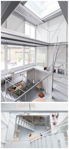 Kazuyo Sejima - Tsuchihashi House, Tokyo 2011. White + furniture to animate space