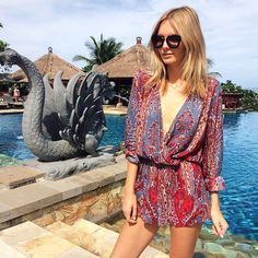tuula vintage in the boho romper #bluelife
