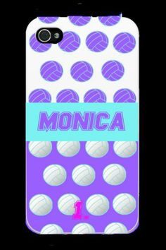 Personalized Name and Number Volleyball iPhone Black Case - iPhone 4/4s & 5/5s