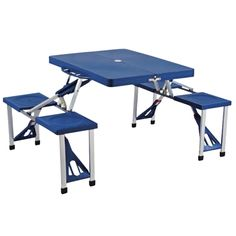 Camping accessories :Outsunny Portable Folding Outdoor Camp Suitcase Picnic Table w/ 4 Seats >>> New and awesome product awaits you, Read it now Plastic Picnic Tables, Portable Picnic Table, Camping Picnic Table, Folding Picnic Table, Outdoor Camping, Picnic Park, Folding Tables, Picnic Set, Beach Picnic