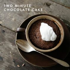 THIS TWO MINUTE CHOCOLATE CAKE WILL CURE ALL OF YOUR SUGAR CRAVINGS #FWx