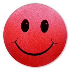 red smiley face | Red Smiley Face Antenna Ball