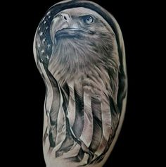 American Flag Bald Eagle Tattoo                              …