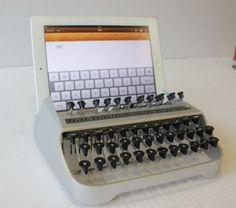 Typewriter iPad Dock Blends New Tech + Classic Style