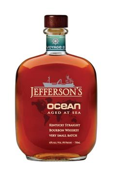 Jefferson's Ocean Aged at Sea Voyage 15 Special Wheated Mash Bill - Caskers Wheated Bourbon, Bourbon Barrel, Good Whiskey, Scotch Whiskey, Best Bourbon Brands, Alcohol Mixers, Whisky, Travel, Scotch Whisky