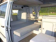Beautiful White VW Bus Interior