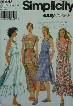 Dress & Bag Simplicity Pattern 5558 Uncut   by patterntreasury, $14.95