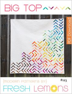 Modern Quilt Pattern Big Top PDF by FreshLemonsQuilts on Etsy