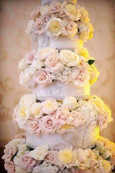 Adorable Floral Wedding Cake