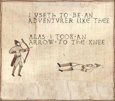 See more 'Medieval Tapestry Edits' images on Know Your Meme! Bayeux Tapestry, Medieval Tapestry, History Jokes, Art History, Medieval Memes, Arrow To The Knee, Historical Art, Art Memes, Know Your Meme