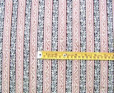 Hand Block Print, Cotton Fabric. Natural Dyes. 2½ Yards $19.99