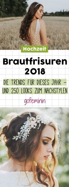 The most beautiful bridal hairstyles We say yes to these hair trends! The most beautiful bride hairstyles Get inspired… Makeup Trends, Beauty Trends, Hair Trends, Wedding Beauty, Wedding Makeup, Wedding Planer, Long Hair Wedding Styles, Hair 2018, Bride Hairstyles