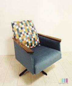 reDesign obrotowy fotel PRL
